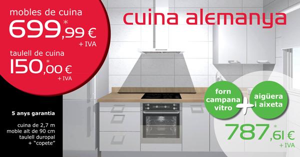 Oferta mobles de cuina, taulell i electrodomèstics