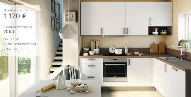 muebles de cocina blancos en terrassa