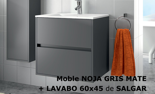 Mueble ba o noja gris for Oferta mueble lavabo
