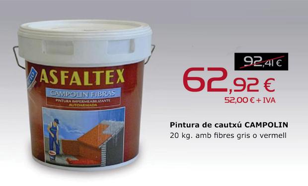 Oferta pintura CAMPOLIN fibras