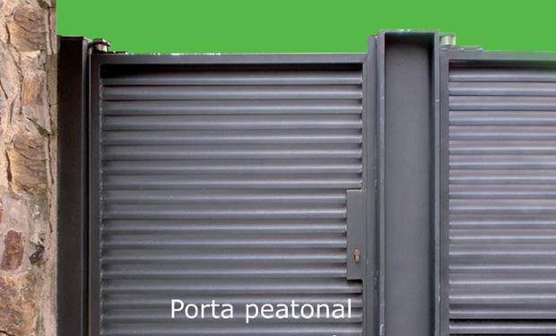 Puerta peatonal para parcela