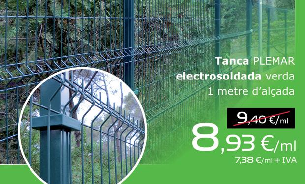 Oferta de valla electrosoldada verde para jardín