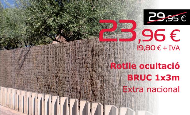 Rollo de ocultación BRUC 1x3m. Extra nacional. Ahora por sólo 23,96€ (IVA incluido)