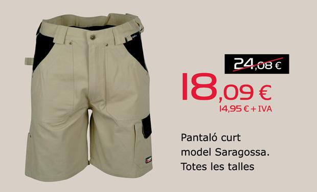 Pantalón corto modelo Zaragoza. Todas las tallas, por sólo 18,09€.