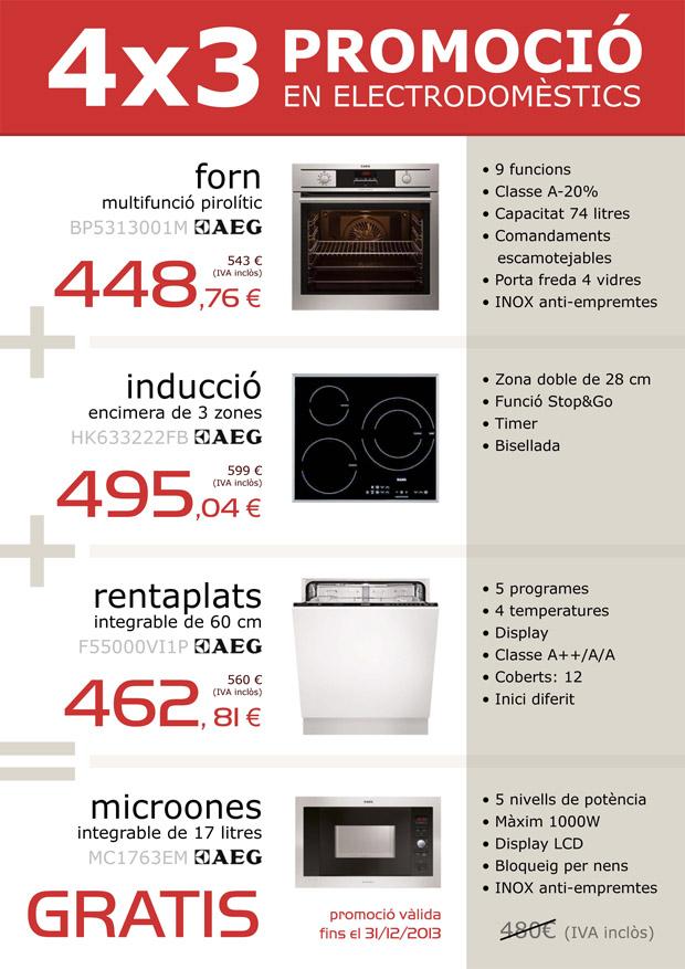 Només fins a final d'any, per la compra de forn, encimera d'inducció i rentaplats, t'emportes gratis el microones!!!