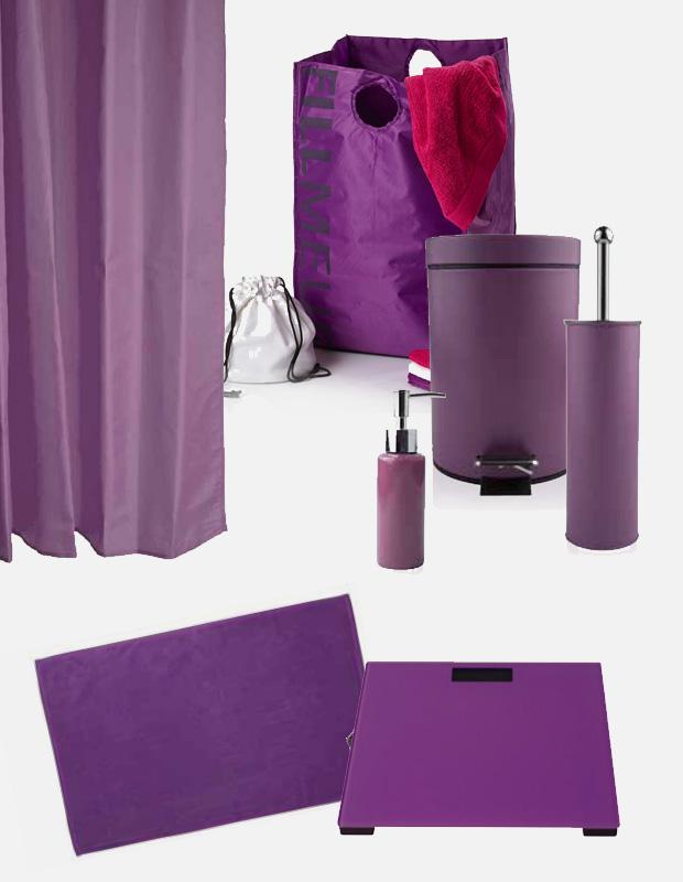 Complementos i accesorios de baño en color lila