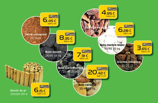 Las mejores ofertas en áridos y triturados para tu jardín, en Terrassa, Sabadell, Matadepera, Viladecavalls, Sant Cugat del Valles, Castellar del Valles, Viladecavalls...