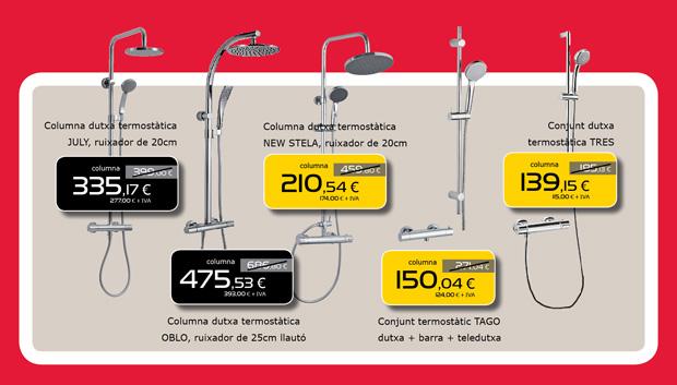 Columna termostática de ducha en Terrassa, Matadepera y Sabadell