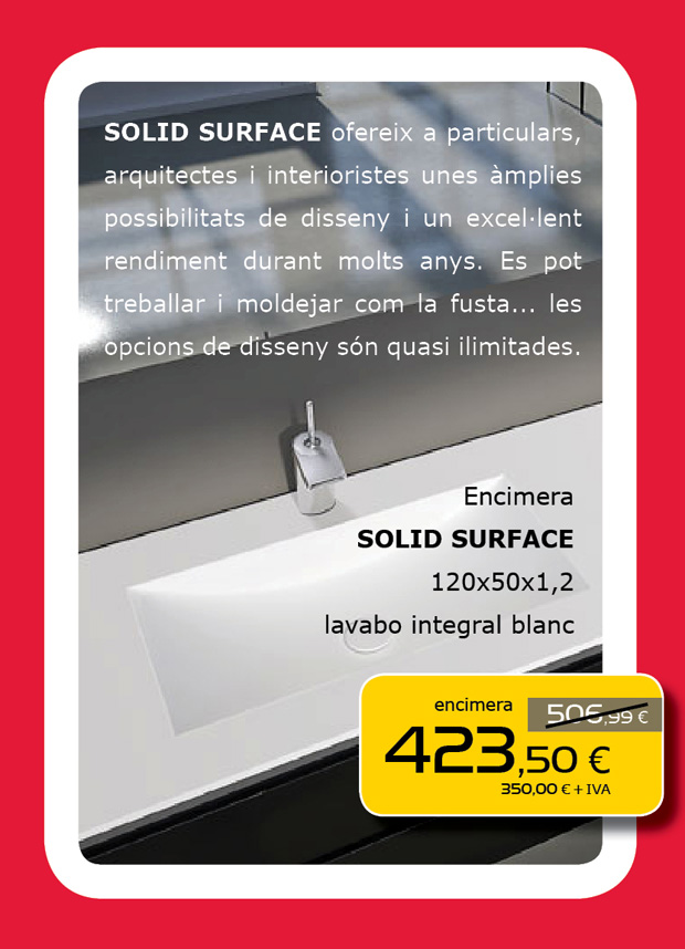 Encimera Solid Surface