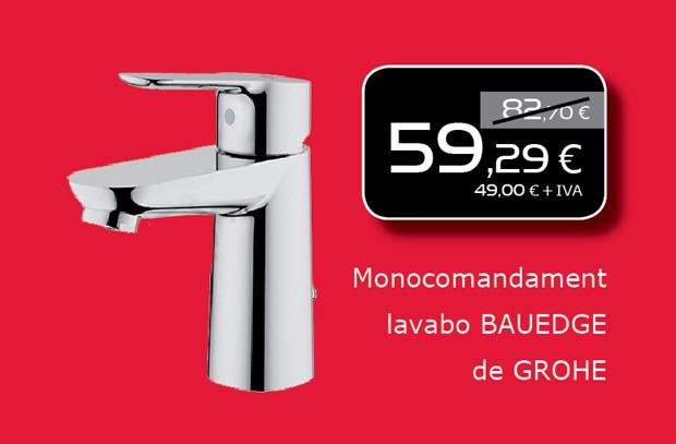 Aixeta de lavabo monocomandament de GROHE a Terrassa, Sabadell, Matadepera, Viladecavalls, Sant Cugat del Valles, Castellar del Valles...