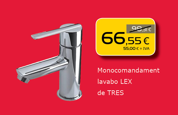 Monomando de lavabo de TRES en Terrassa, Sabadell, Matadepera, Castellar del Valles, Sant Cugat del Valles, Viladecavalls...