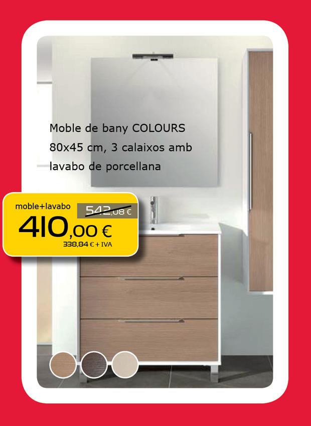Mueble de baño COLOURS + Lavabo de porcelana