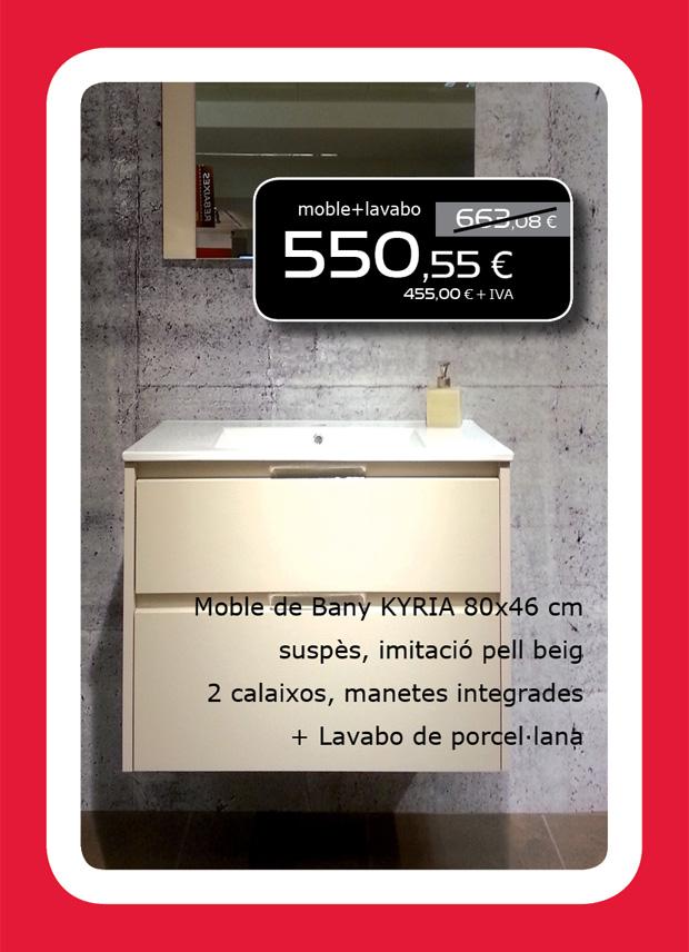 Mueble de baño KYRIA + Lavabo de porcelana