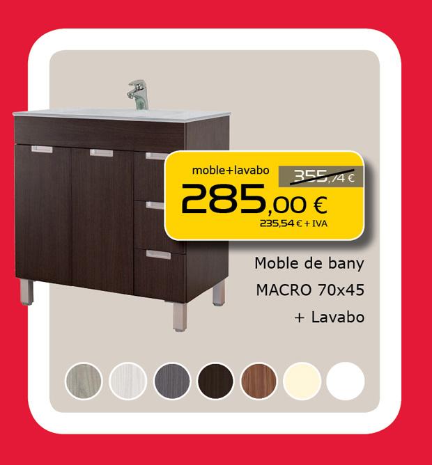 Mueble de Baño MACRO de 70cm + Lavabo