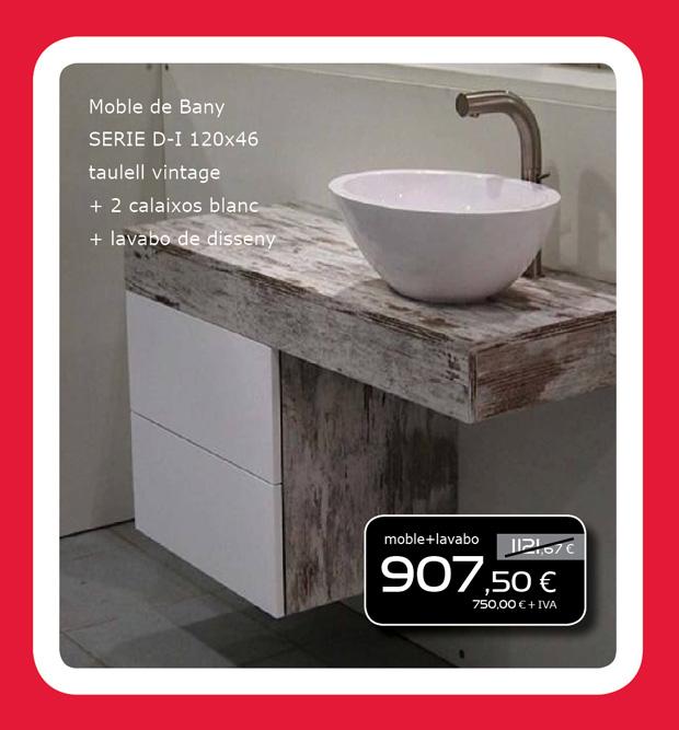 Mueble de ba o vintage lavabo de dise o solomat - Mueble de bano diseno ...