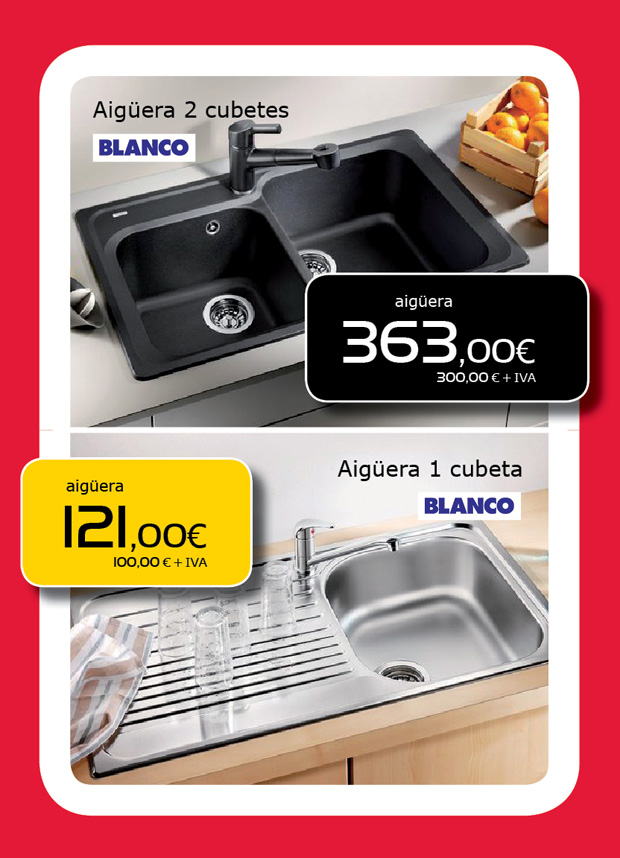 Ofertas de fregaderos de cocina en Terrassa, Sabadell, Matadepera, Sant Cugat del Vallès, Castellar del Vallès, Viladecavalls