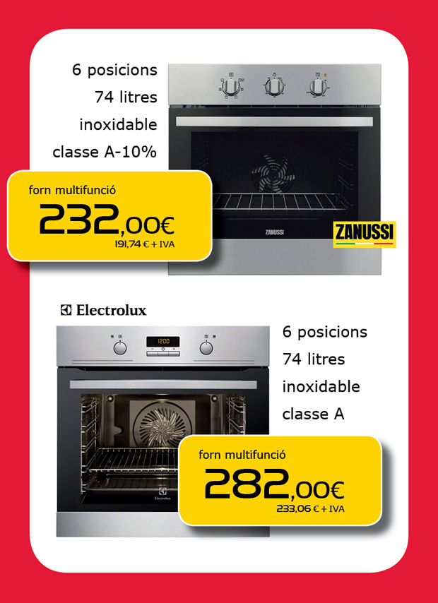 Horno de cocina en Terrassa, Sabadell, Matadepera, Sant Cugat del Vallès, Cerdanyola del Vallès, Castellar del Vallès, Viladecavalls