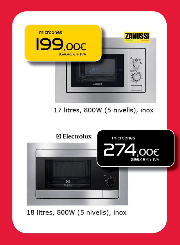 Ofertas de microondas en Terrassa, Sabadell y Matadepera