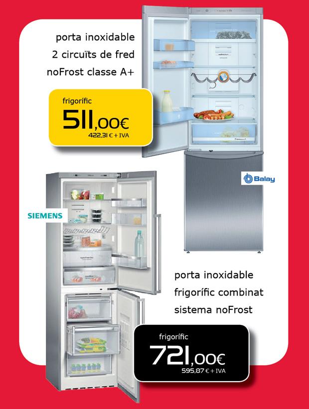 Ofertas de frigoríficos en Terrassa, Sabadell y Matadepera
