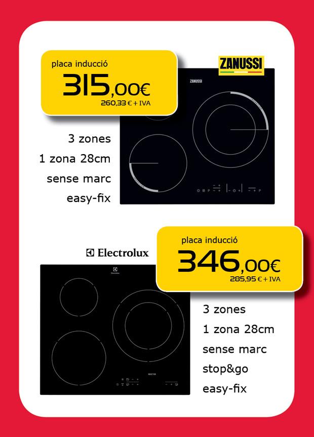 Ofertas de placas de inducción en Terrassa, Sabadell, Matadepera, Sant Cugat del Vallès, Castellar del Vallès, Viladecavalls