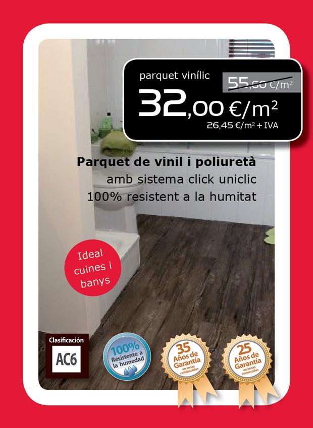 Parquet de vinilo y poliuretano al mejor precio en Terrassa, Sabadell, Matadepera