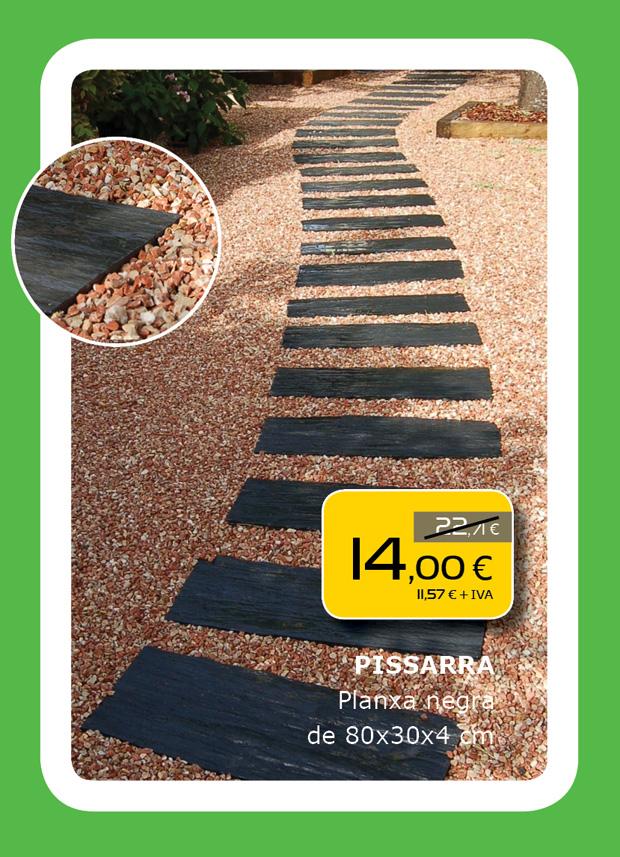 Plancha de pizarra negra para pavimento en Terrassa, Sabadell, Matadepera...
