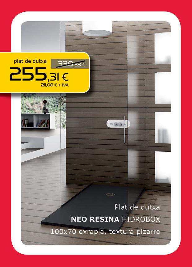 Plato de ducha NEO resina 100x70cm