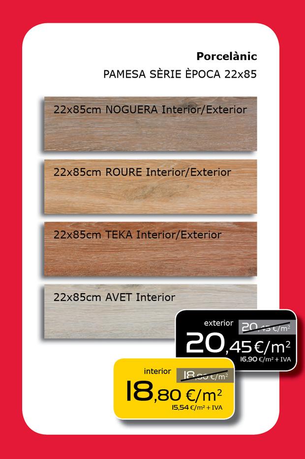Porcelánico imitación madera para interior y exterior