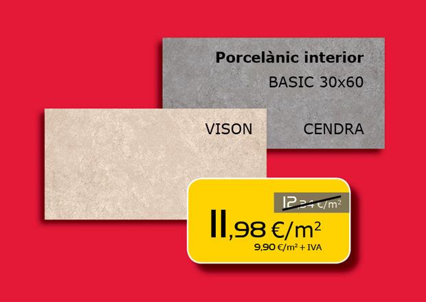 Porcelánico interior 30x60cm