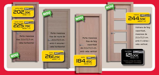 Puertas y vidrieras macizas de madera en Terrassa, Sabadell, Matadepera, Viladecavalls, Sant Cugat del Valles, Castellar del Valles