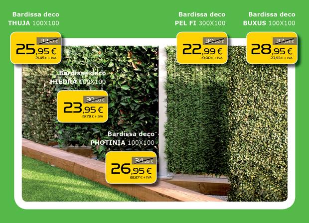 Seto artificial decorativo para jardín en Terrassa, Sabadell, Matadepera, Sant Cugat del Valles, Castellar del Valles, Viladecavalls