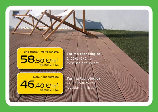 Oferta de tarima tecnológica en Terrassa, Sabadell, Matadepera, Viladecavalls, Sant Cugat del Valles, Castellar del Valles...