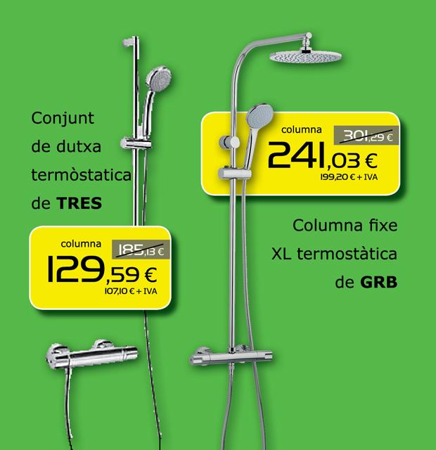 Conjunto y columna de ducha termostática