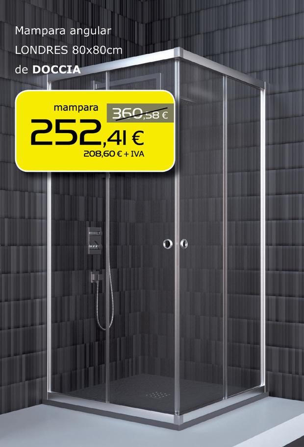 Mampara de ducha angular para esquina en Terrassa