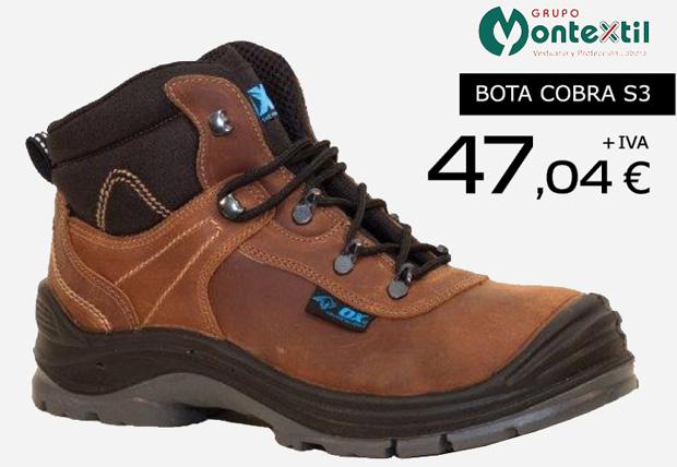 Calzado laboral Grupo Montextil en oferta. Promoción válida hasta el 31 de Noviembre de 2014.