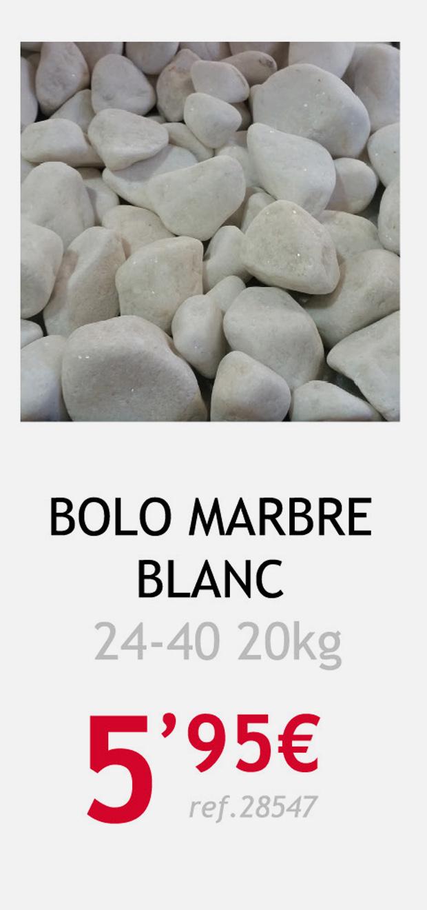 áridos terrassa bolo marmol blanco