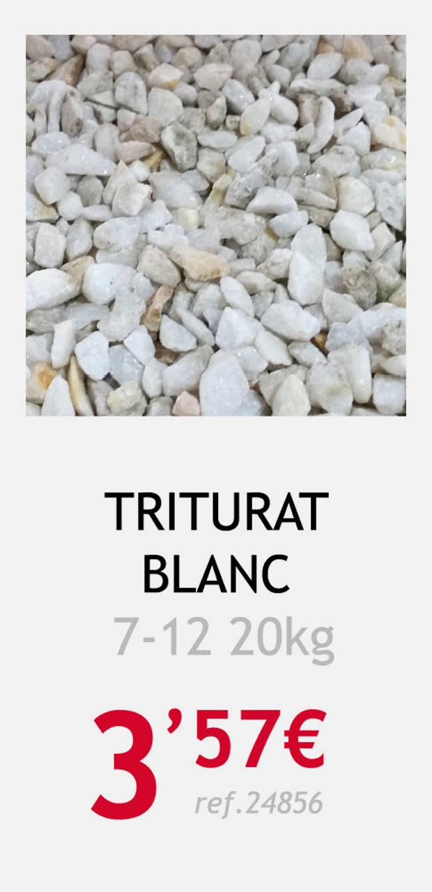 aridos terrassa triturado blanco