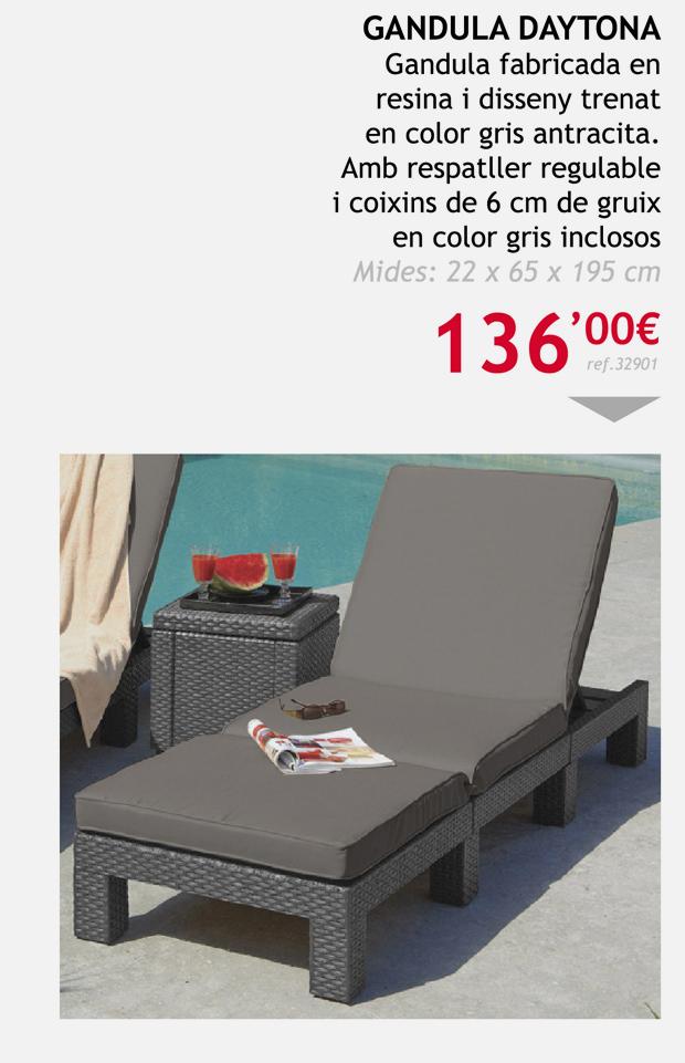 muebles terrassa tumbona daytona