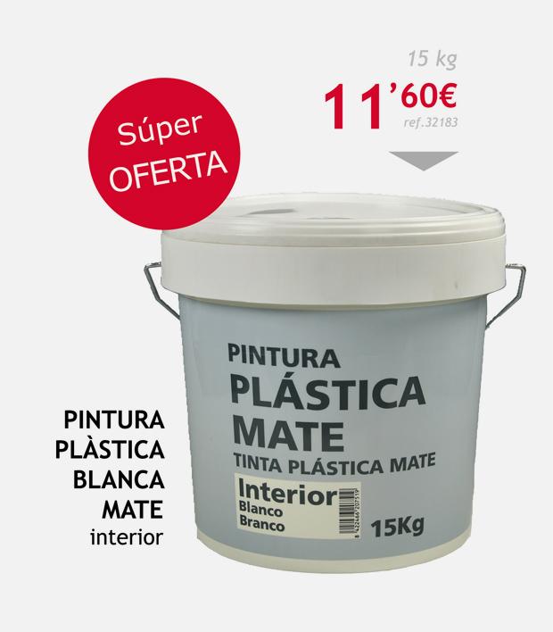 pintura terrassa plastica blanca mate