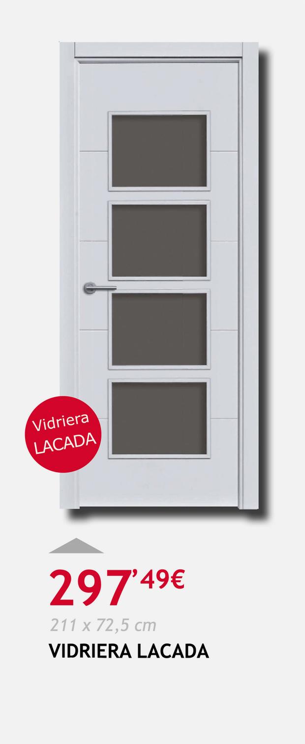 puerta terrassa vidriera lacada