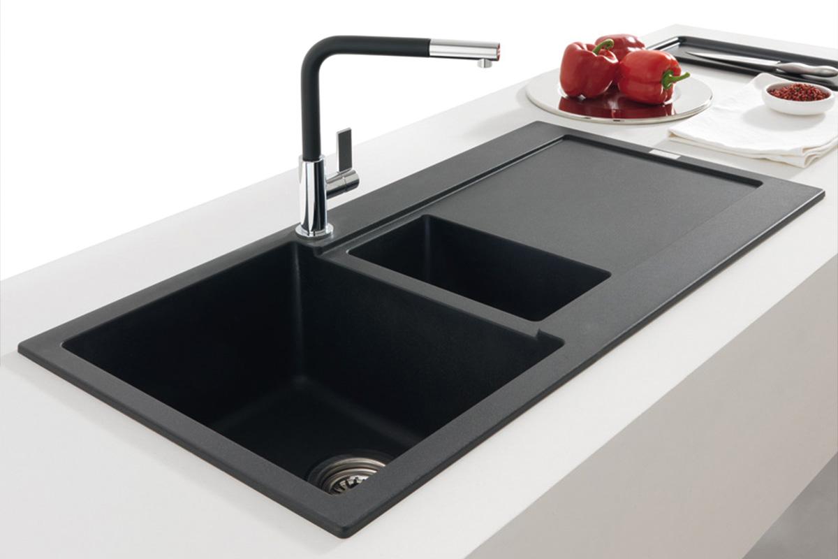 Fregaderos de cocina solomat cocinas ba os cer mica for Mejor material para encimeras de cocina