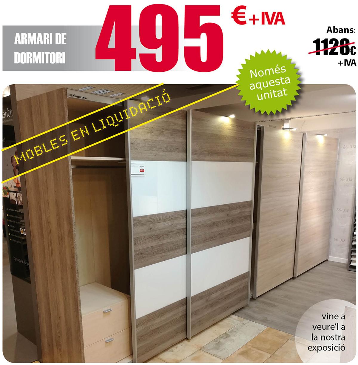 Liquidación de muebles en Terrassa: Armario de dormitorio