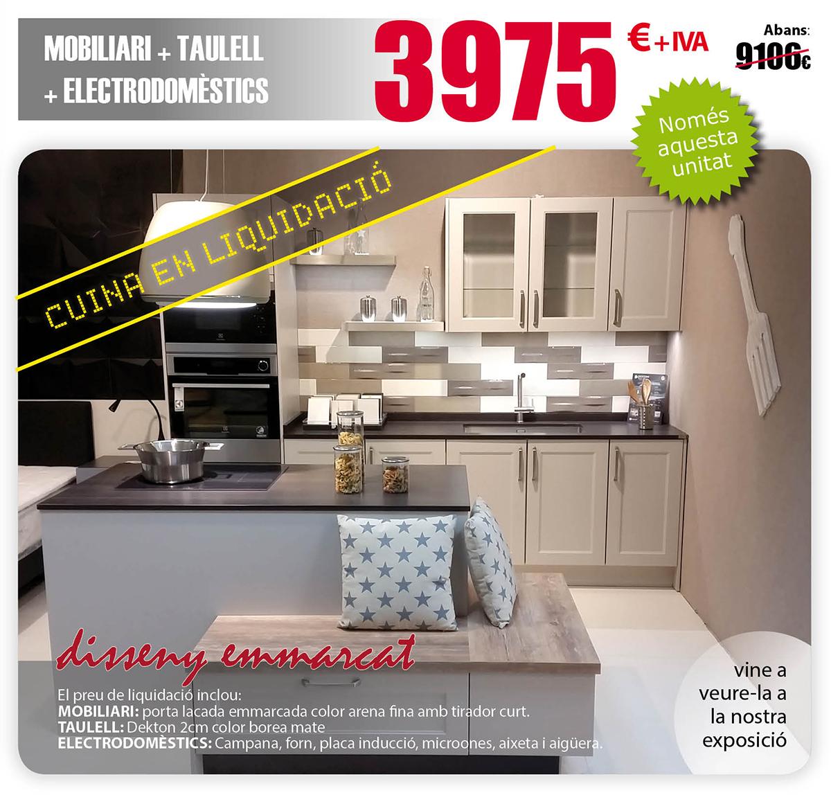 Muebles de cocina solomat cocinas ba os cer mica for Liquidacion muebles diseno