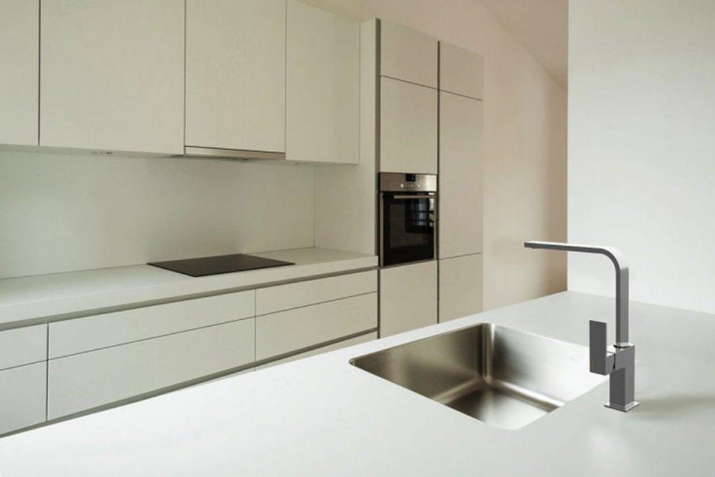 Grifer a de cocina solomat cocinas ba os cer mica for Griferia cocina blanco