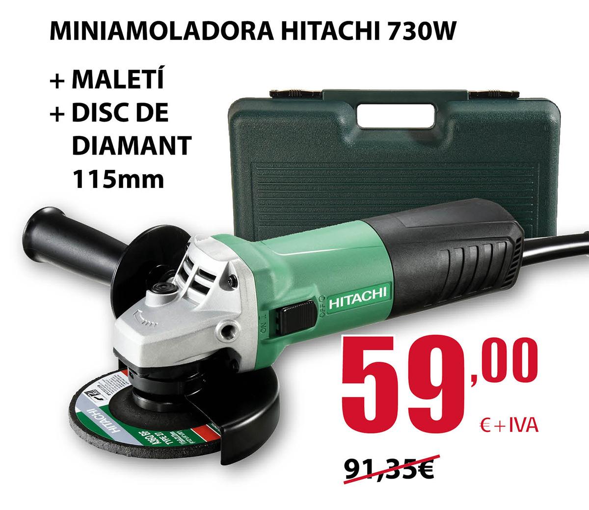 oferta miniamoladora hitachi 730w en terrassa