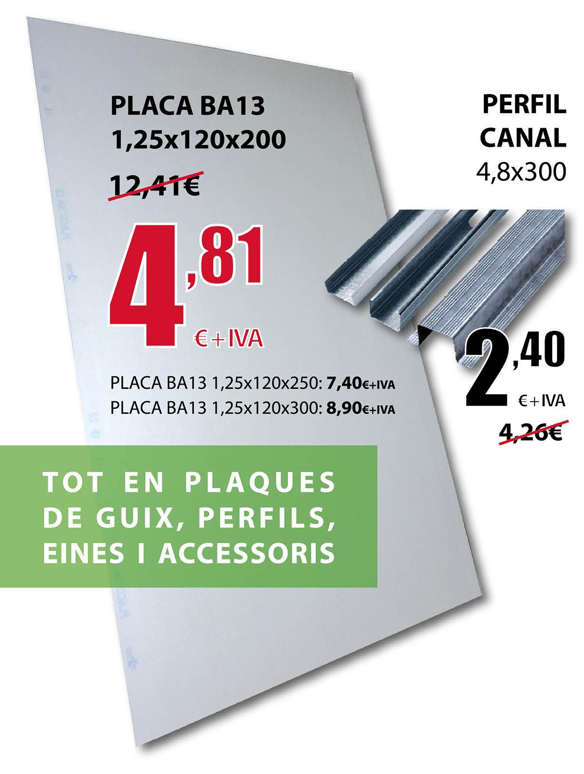 Oferta placa de yeso BA13 en Terrassa