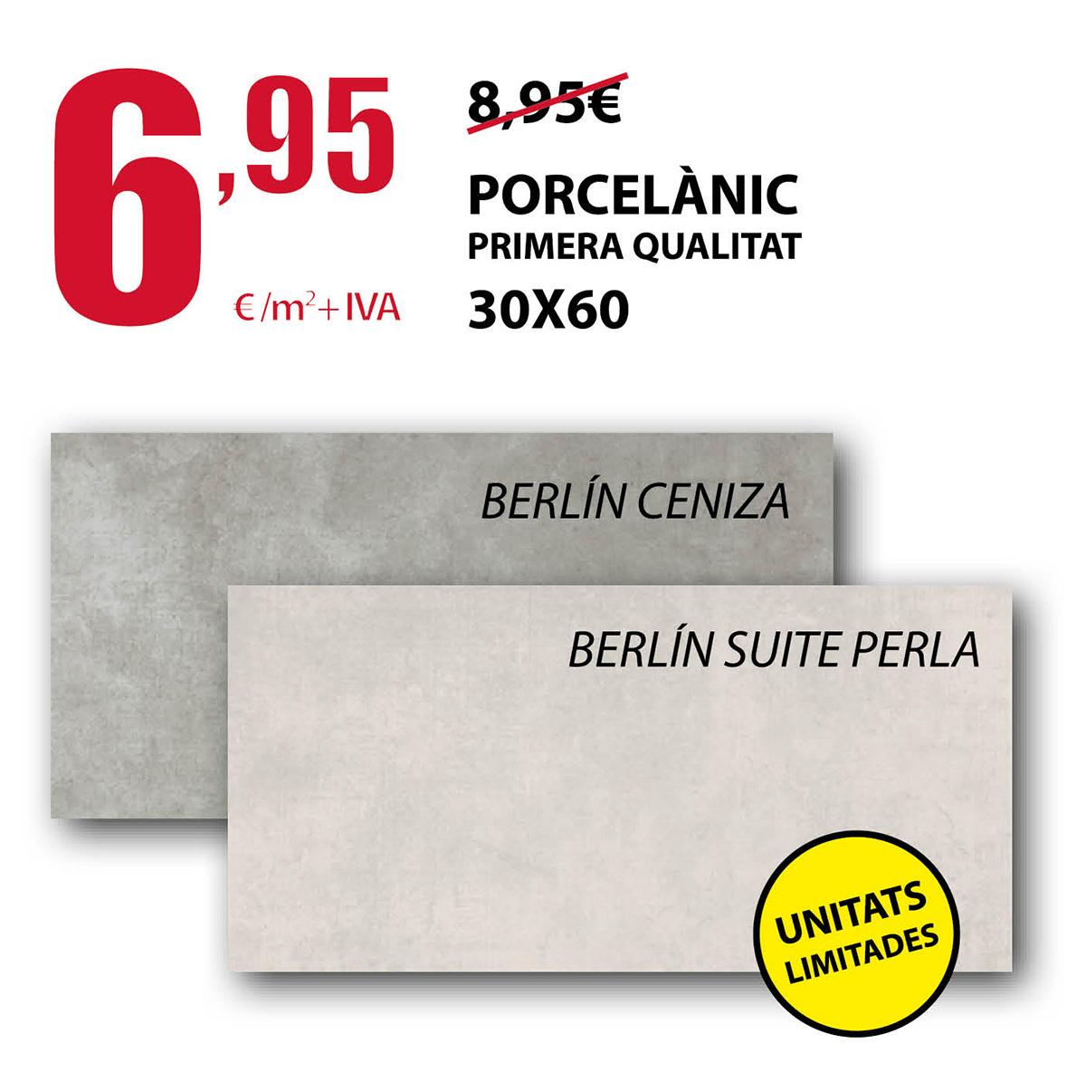 Porcelánico de primera calidad 30x60 en Terrassa