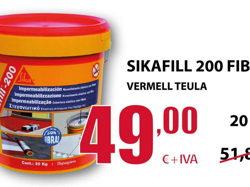 Sikafill 200 fibras rojo teja en Terrassa