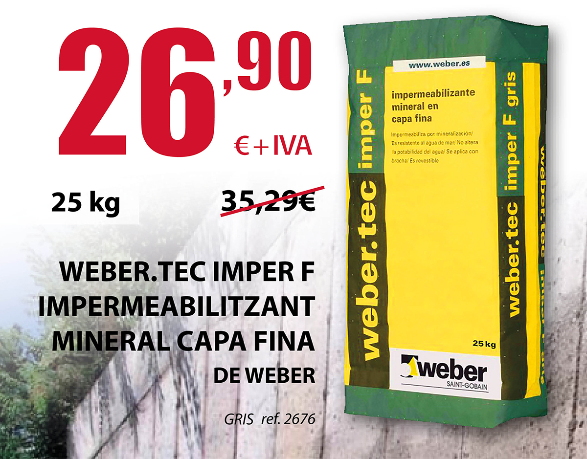 Webertec Imper F Impermeabilizante Mineral Capa Fina
