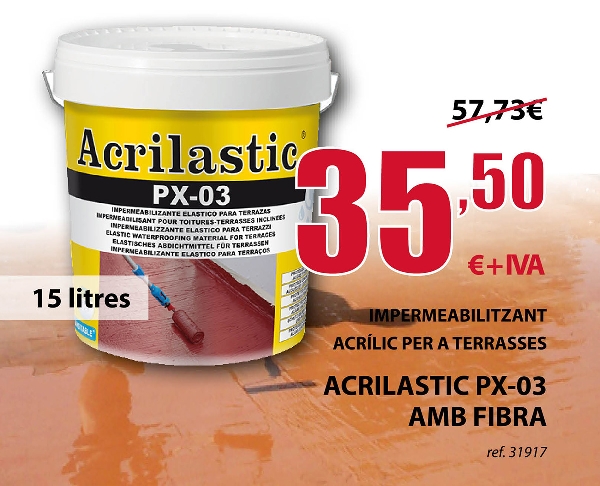 Impermeabilizante acrílico Acrilastic PX-03 en Terrassa